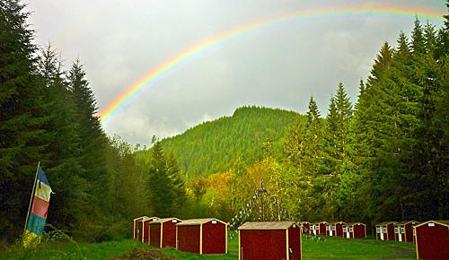 Rainbow over the Mandala Garden